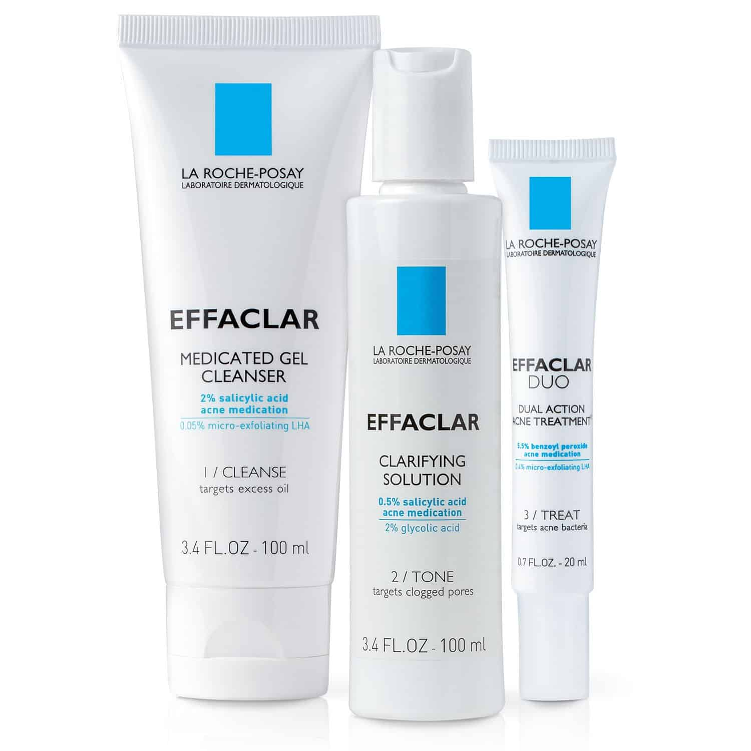 La Roche-Posay Effaclar Acne Treatment 3-Step Skin Care Set