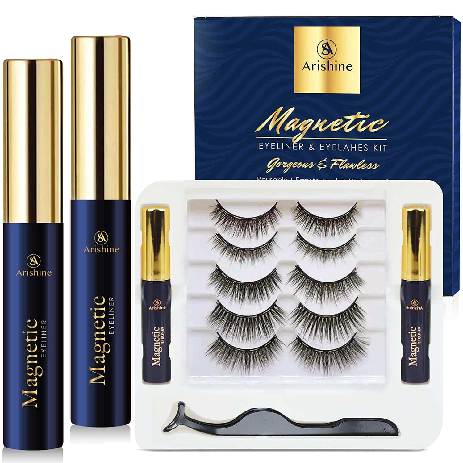 Arishine 3D Magnetic Eyelashes Kit