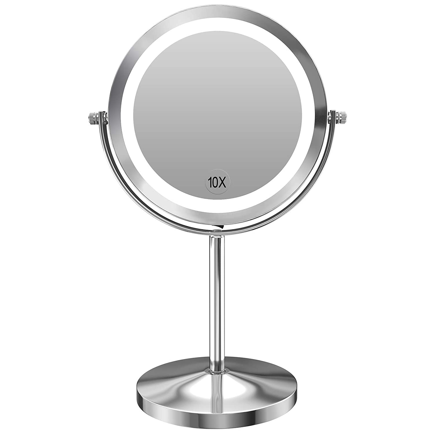 Gospire 10x Magnified Lighted Makeup Mirror