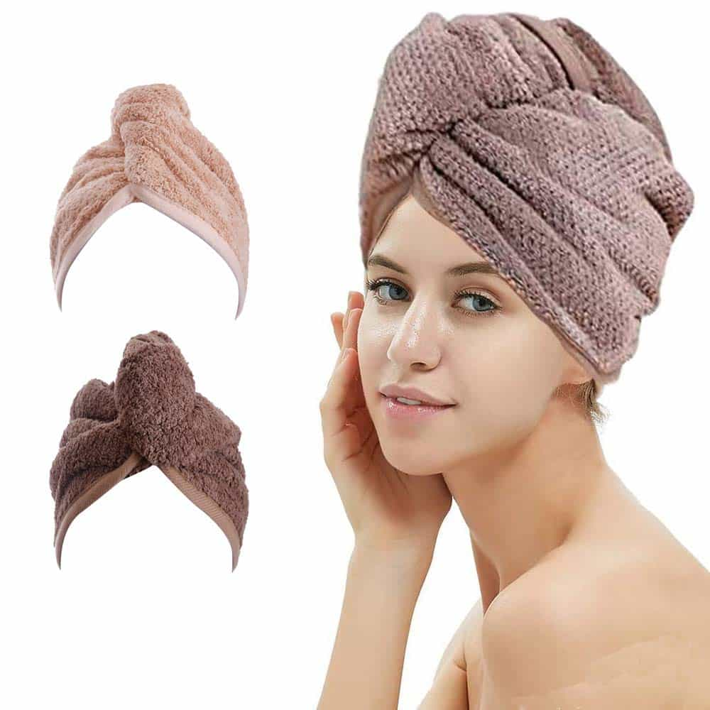 M-bestl Hair Drying Towel- 2 Pack