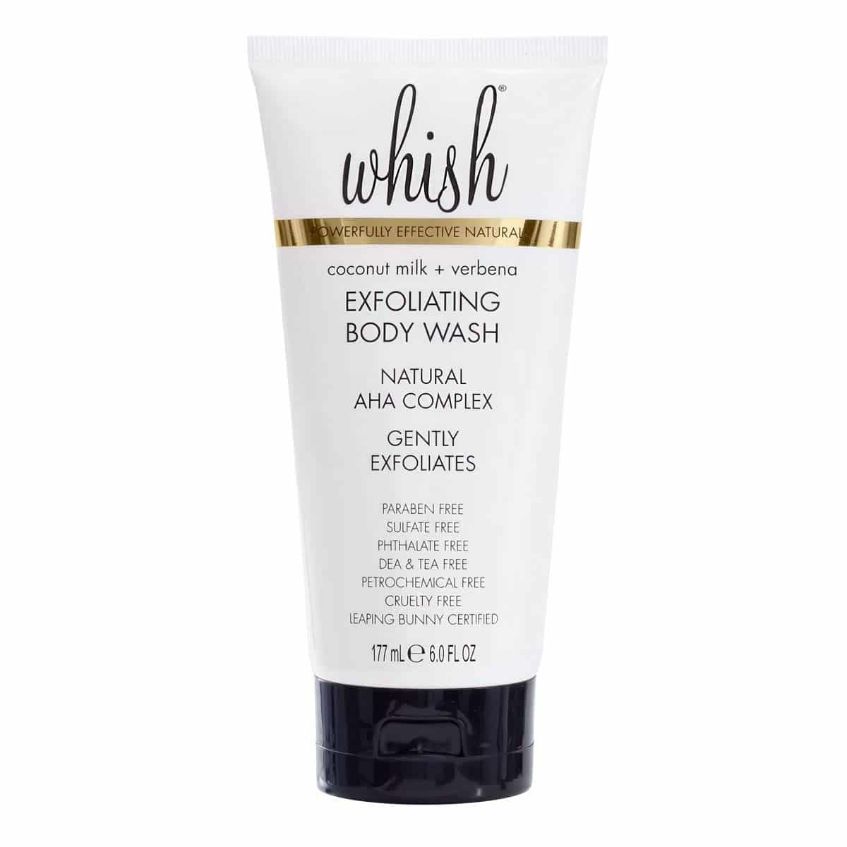 Whish Beauty Coconut Milk and Verbena Exfoliating Body Wash