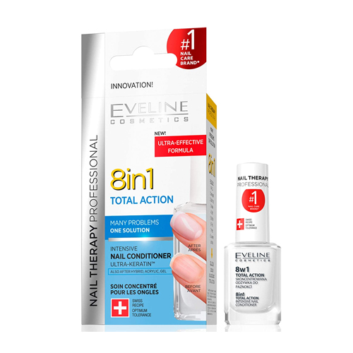 Eveline Cosmetics Total Action 8-In-1 Intensive Nail Treatment and Conditioner