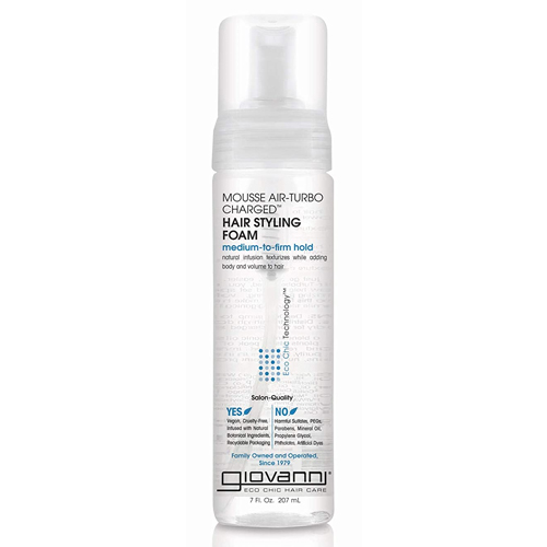 GIOVANNI Mousse Air-Turbo Charged Hair Styling Foam